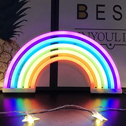 Veilleuse arc-en-ciel pour enfants Cadeau de Noël LED...