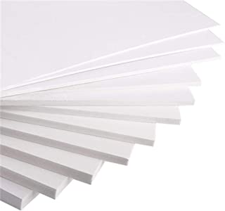 Expanded PVC Foam Board Sheet (5 Pieces) 20cm×30cm 30cm×40cm Thickness 2-18mm Smooth Finish White for Craft Model Displays Signage Screen Printing Cosplay