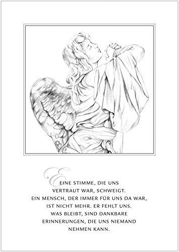 Trauerkarte Eine Stimme, Die Uns Vertraut War, Schweigt. Ein Mensch, Der Immer Für Uns da War, Ist Nicht Mehr. Er Fehlt Uns. Was Bleibt, Sind Dankbare Erinnerungen, Die Uns Niemand Nehmen Kann. (8)