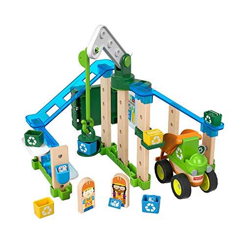 Fisher-Price GFJ12 - Wunder Werker Holzspielzeug Recycling Center Spielset aus FSC zertifiziertem Holz, Spielzeug ab 3 Jahren
