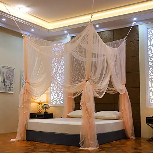 4 Eckpfosten- Bett-Überdachung, Insektenschutz Moskitoschutznetz Elegante hängend Moskitonetz Bett-Zelt-Überdachung Bett Breath Einfache Installation Erwachsene Platz ( Größe : 2 m (6.6ft) )