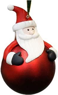 SDYPDQ Adornos navideños Bola de cerámica Suave Papá Noel Muñeco de Nieve Reno Árbol de Navidad Decoración Colgante (Estilo Aleatorio)