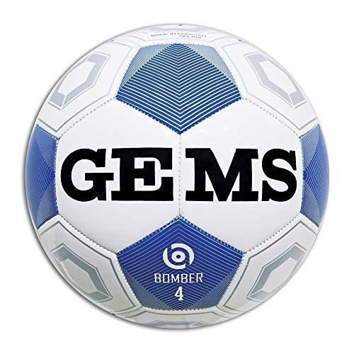 GEMS Pallone Calcio Bomber Bianco 4