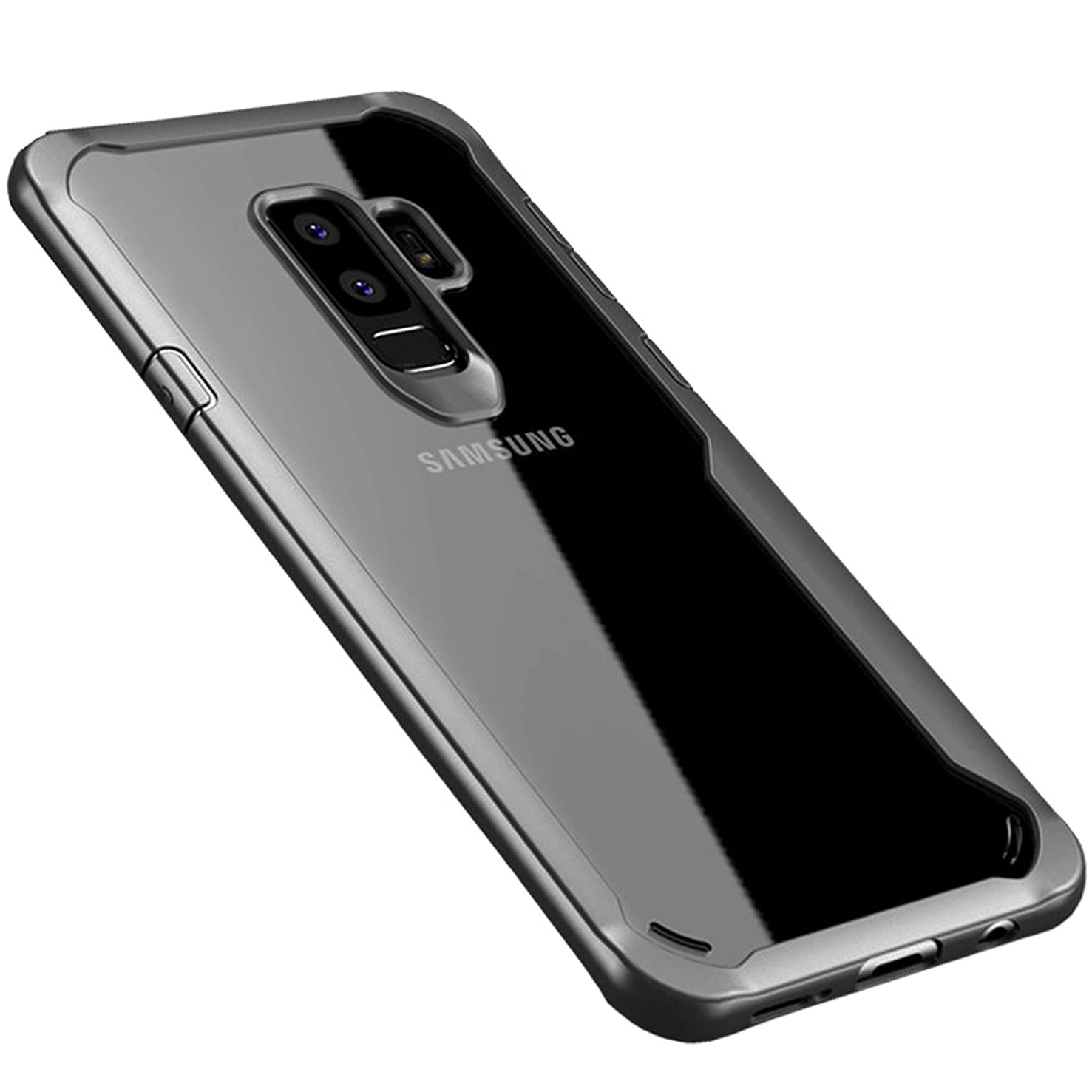 HONTECH Galaxy S9 Case, Ultra Thin Clear PC Back Cover TPU Frame Bumper Shockproof Shell for GalaxyS9 (Gray)