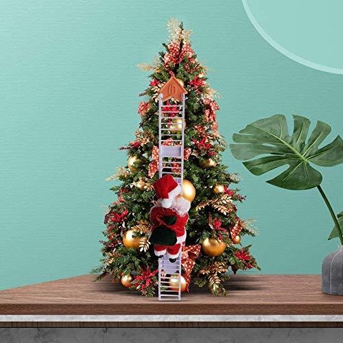 HOZ Juguetes eléctricos de Papá Noel, muñeca de felpa de Papá Noel...
