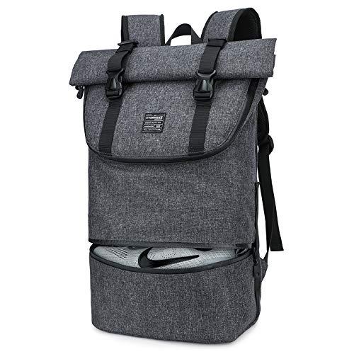 EverVanz Mochila para Laptop, Mujer &Hombre Enrollable Resistente al Agua, Viajes,Mochila para Excursiones, Mochila Casual Ligera,Bolsa con Estilo para la Escuela