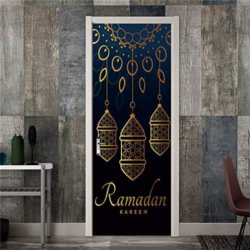 3D deurstickerdeursticker, behang, plakfolie, zelfklevend, deur, poster, deurdecoratie, sticker, 77 x 200 cm