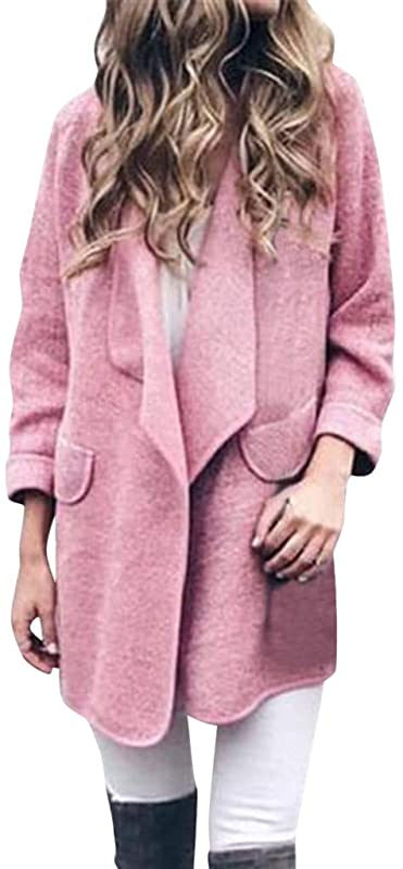 Bollysky Females Comfort Overcoat Long Sleeve Pullover Blouse Open Front Jacket Coat Long Outerwear Fashion Trend Costumes