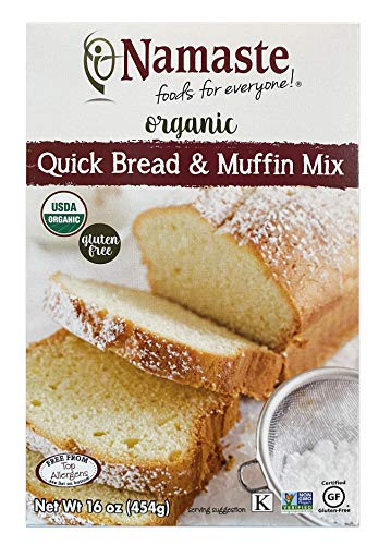 Namaste Foods Organic Gluten Free Quick Bread & Muffin Mix, 16 Ounce – Allergen Free