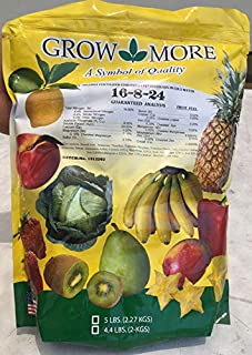 Banana Fertilizer - Fruit Fuel - 16-8-24 - Grow more - 5 lbs