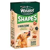 Winalot Shapes are wholesome biscuits that help give your dog the bounce he needs to go out and enjoy family life. Feed Winalot Shapes as a snack, treat or as a tasty reward during training. With fibre to help support a healthy digestion With B vitam...