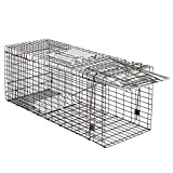 Smartxchoices 32-inch Live Animal Cage Trap Catch and Release Spring Loaded One-Door Collapsible...