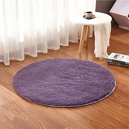 Round Rugs,Bedroom Rugs,Computer Chair Pads,Yoga Rugs,Machine Washable,Diameter:0.98'