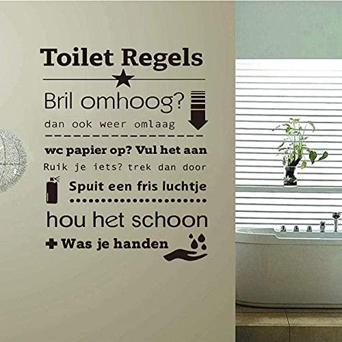 Pegatinas de pared decoración de arte reglas de baño pegatinas de vinilo de arte pegatinas de pared decoración fondos de pantalla se pueden personalizar palo de pared personalizado 59x85cm