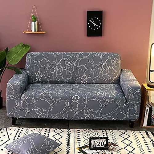 Funda de sofá geométrica elástica para Sala de Estar, sofá de Esquina seccional Moderno, Funda Protectora para sofá, Protector de Silla A28, 2 plazas
