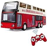 Big Double Decker Rc Bus, juguetes electrónicos para pasatiempos, modelo de autobús convertible intercambiable de 2.4G, luces LED, puerta abierta con un clic en el vehículo de autobús turístico RC