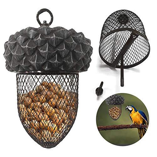 Alimentador De Pájaros Colgante, Contenedor De Dispositivo De Alimentación De Alimentos para Pájaros, Juguete De Loro para Jaulas Al Aire Libre Caseras para Jardín
