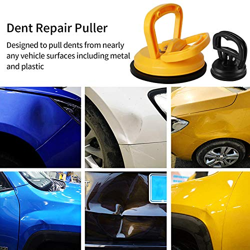 Kaisiking Yellow Suction Cup Dent Puller Handle Lifter Car Dent Puller Remover for Car Dent Repair, Glass,Tiles, Mirror, Granite Lifting and Objects Moving