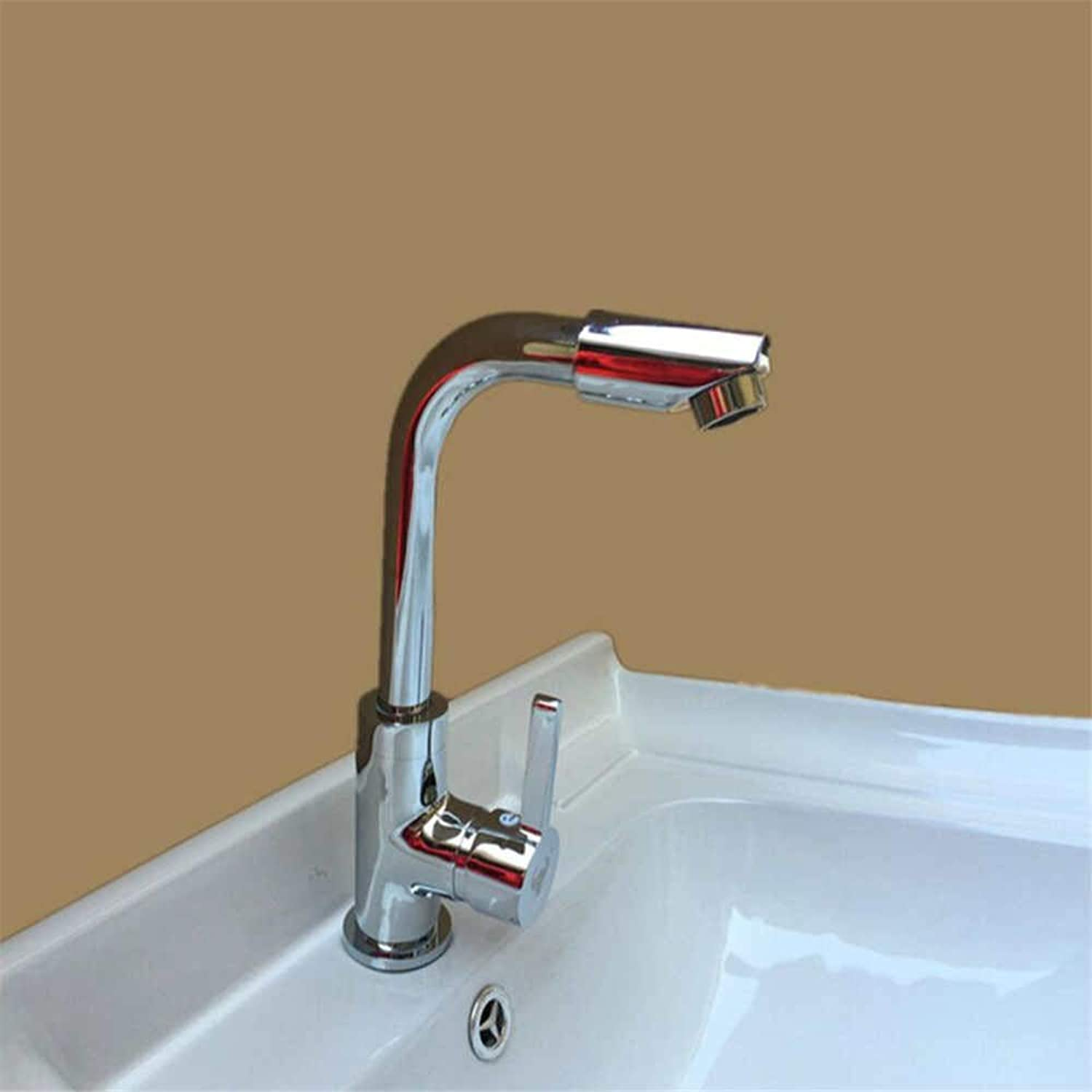 Basin Mixer Tap 360 Degree redating Faucet Stainless Steel Faucet Double Hole Basin Faucet