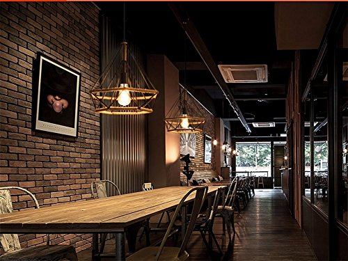 2 piezas Lámpara Colgante Vintage,Luz de Techo Retro,Iluminación Suspensión...