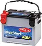 Delphi BU9075DT MaxStart AGM Premium Automotive Battery, Group Size 75DT (Dual Terminal)