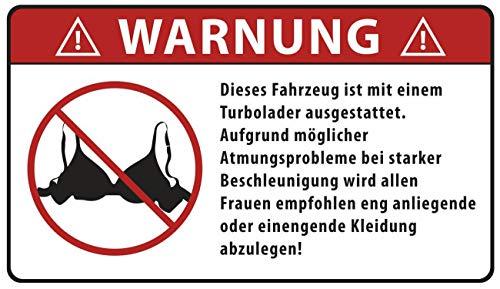 Aufkleber WARNUNG Turbolader (wetterfest)