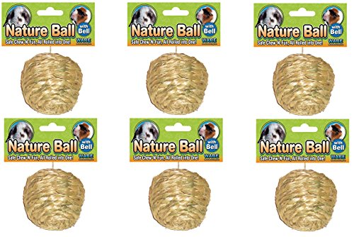 (6 Pack) Ware Natural Sisal Ball Toy for Small Pets, Medium