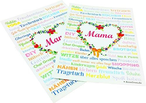 MAMA A6 Moederdag 2 ansichtkaarten geboorte druk cadeau babyshower babyshower huwelijk moederdag dank souvenir schoonmoeder
