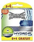 Wilkinson - Hydro 5 Sensitive - Lames de rasoir pour Homme - Pack de 12
