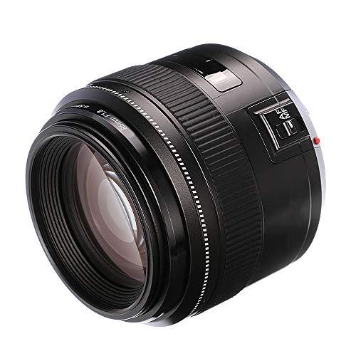 LJJOO 85mm F1.8 AF/MF Standard Medium Telephoto Prime Lens Fixed Focal Camera Lens for Canon EF Mount EOS Cameras Webcams & VoIP Equipment