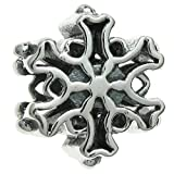 Queenberry - Charm in argento Sterling con fiocco di neve di Natale, stile europeo