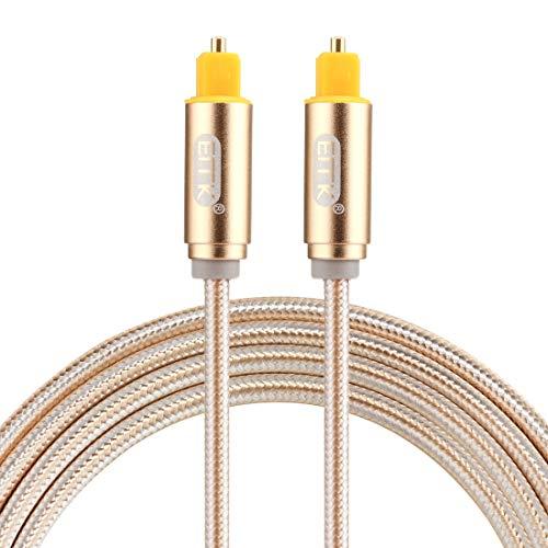 Licht en mooi, eenvoudig te vervoeren, 1,5 m OD4,0 mm vergulde metalen kop, Toslink-stekker op optische audiokabel (goud), klein, gering gewicht, goud.