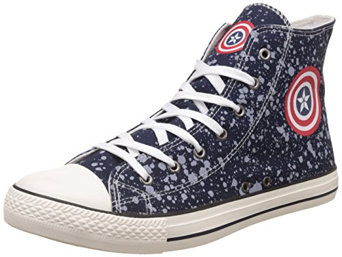 Captain America Men's Navy Blue Sneakers - 8 UK/India (42 EU)