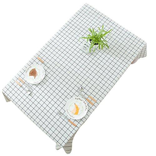 WINOMO Rectangle Nappe Poids Lourd Étanche à l'huile Anti-moisissure Table Couvre-Table Chemin de Table 137x200cm