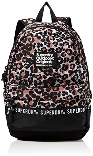 Superdry Repeat Series Montana Women's Backpack, Multicolour (Brown Print), 35x20x45 centimeters (W x H x L)