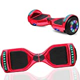 NHT 6.5' inch Hoverboard Self Balancing Scooter with Built-in Bluetooth Speaker and Handle and Colorful LED Wheels and Lights- UL2272 Certified (Chrome Rose Gold)