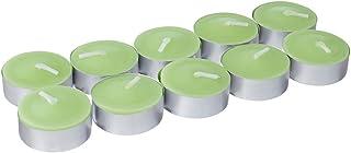 شموع الشاي برائحة التفاح من كاناواتي، 10 قطع - اخضر