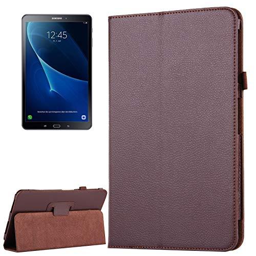 Dmtrab para Para Samsung Galaxy Tab A 10.1 / T580 Funda, Funda de Cuero Horizontal Horizontal Magnetic Horizontal Litchi con función de Soporte y sueño/Despertador (Rosa) Casos de la Tableta Galaxy