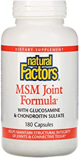 Natural Factors MSM Joint Formula - 180 Capsules