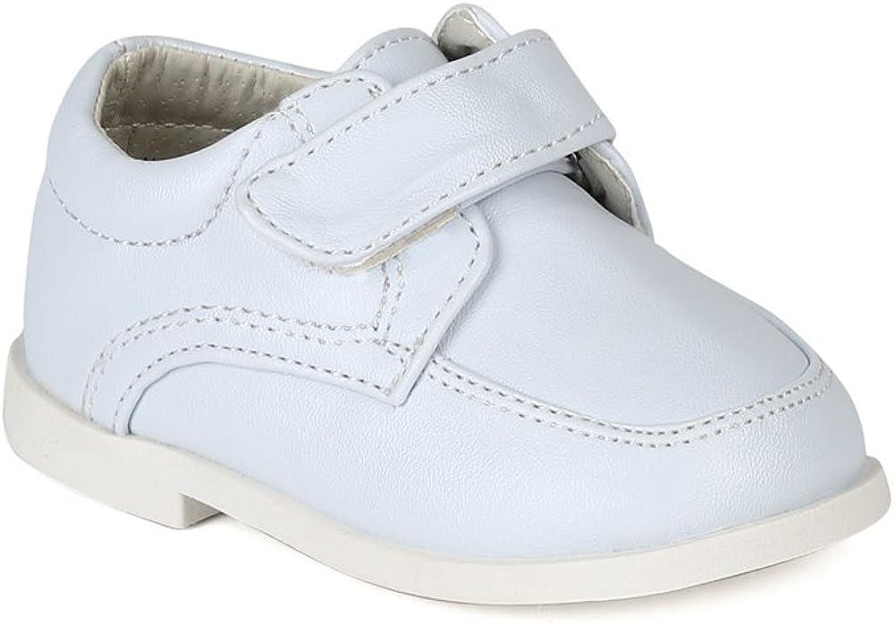 Auston Leatherette Strap School Dress Shoe (Infant/Toddler Boys) AH58 - White