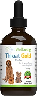 Pet Wellbeing - Throat Gold - Cough & Throat Soother 4 oz. - Natural Herbal Throat Support for Chronic Cough in Dogs & Collapsing Trachea Remedies