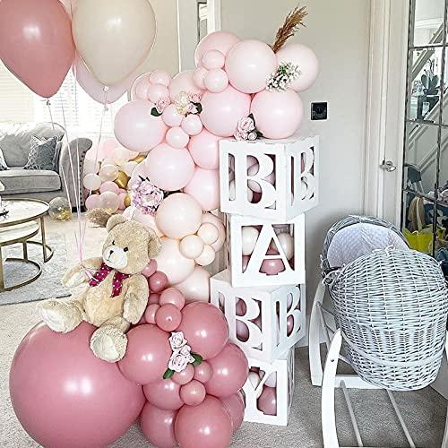 Scatole di palloncini per decorazioni per baby shower, 4 pezzi fai da te per bambini...