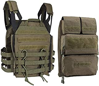 Tactical JPC MOLLE Airsoft Multicam Protective Vest with 2.0 Large Capacity Outdoor Expansion Kit