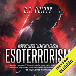 Esoterrorism     From the Secret Files of the Red Room, Book 1              By:                                                                                                                                 C. T. Phipps                               Narrated by:                                                                                                                                 Jeffrey Kafer                      Length: 9 hrs and 40 mins     143 ratings     Overall 4.3