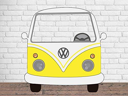 Photocall para Bodas en Cartón Furgoneta Amarilla 156x150cm | Photocall Furgoneta Amarilla | Photocall Económico y Original | Photocall Troquelado
