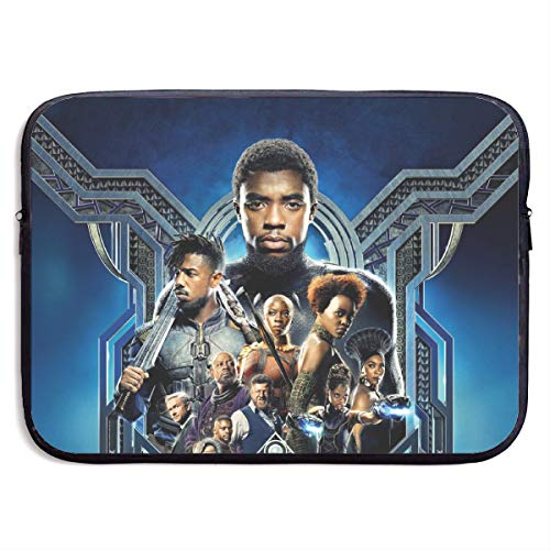 Black Panther Laptop Handbag, Messenger Case Bag, Computer Briefcase with Zipper fit for 13/15-Inch, Anti Shock Waterproof Cover Protector for School Work