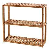 SONGMICS BCB13Y Étagère en Bambou réglable en Hauteur avec 3 Niveaux 60 x 15 x 54 cm