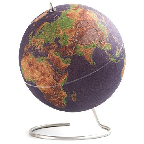 SUCK UK Multicolor Globo Terráqueo Grande | Bola del Mundo De Corcho Diseño Decoración del Hogar, 30x25x25 cm