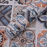Pegatinas para muebles Papel de contacto Papel pintado impermeable extraíble para despegar y pegar para azulejos Calcomanías para paredes Cocina Baño Escalera Decoración la habitación 15.74'×118.11'