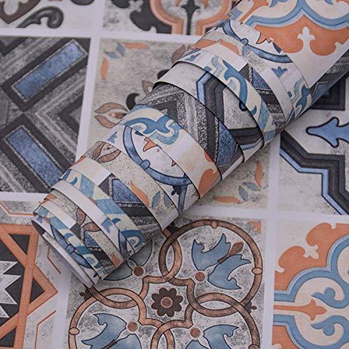 """Pegatinas para muebles Papel de contacto Papel pintado impermeable extraíble para despegar y pegar para azulejos Calcomanías para paredes Cocina Baño Escalera Decoración la habitación 15.74""""×118.11"""""""